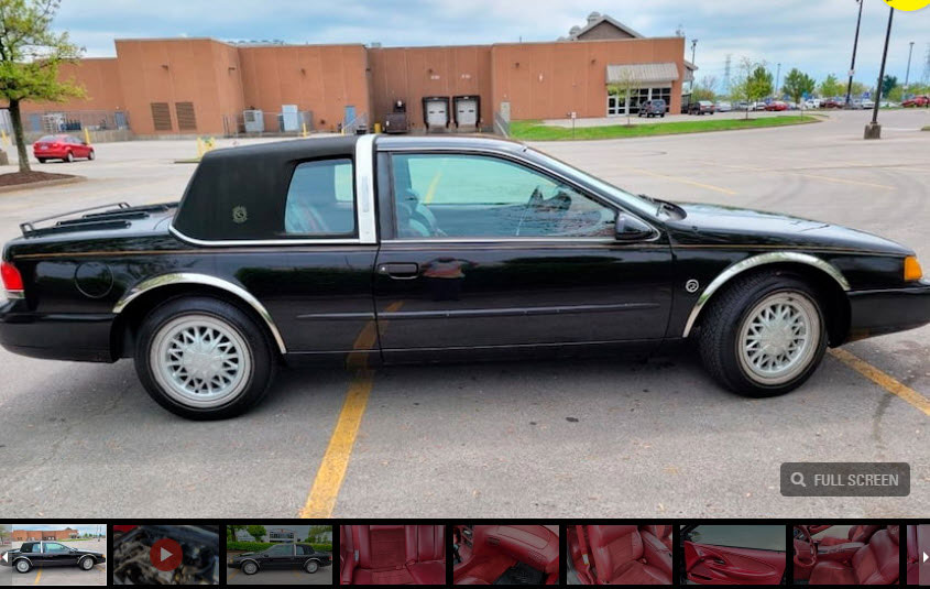 2021 Indy 1994 Mercury Cougar XR-7