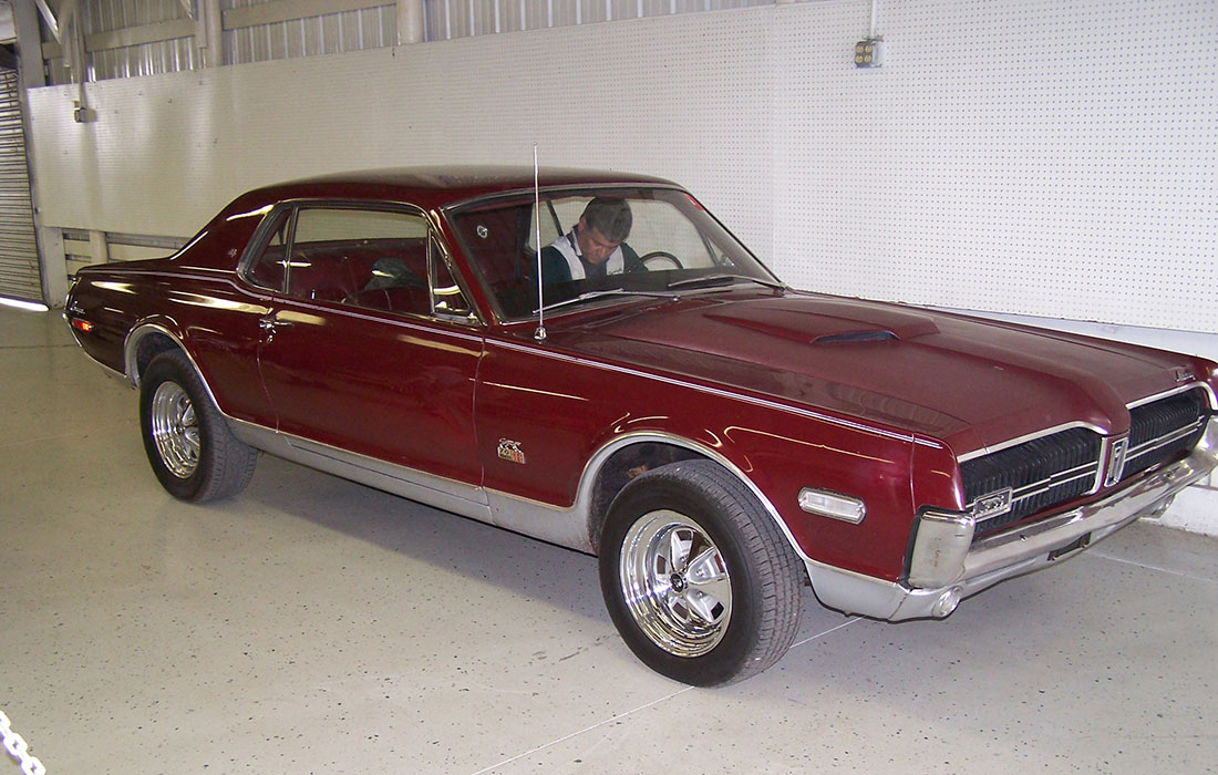 1968 Black Cherry Mercury Cougar GT-E